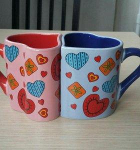 Чайная и кофейная пара кружек
