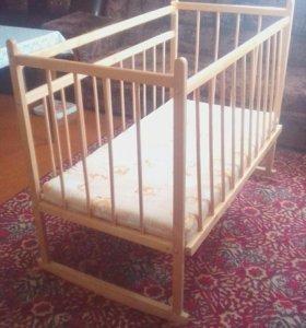 Кровать качалка+матрас