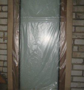 Дверь межкомнатная( Новая) Стекло Триплекс
