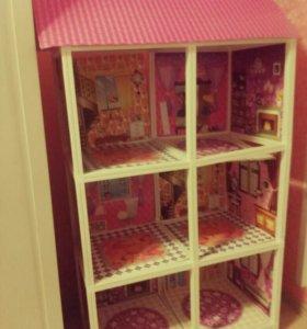 Детский игрушечный кукольный дом