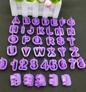 Набор формочек - буквы и цифры (новые)