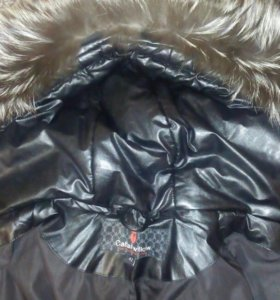 Куртка зимняя, кожанная.