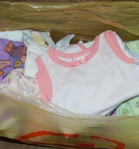Пакет вещей на девочку до 5 месяцев