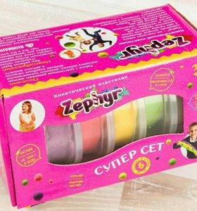 Zephyr набор кинетического пластелина 6 цветов