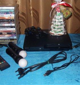 PS3+17 игр+аксессуары