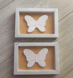 Настенное декоративные украшение Бабочка
