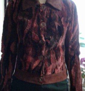 Замшевая куртка с мехом