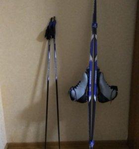 Лыжи в комплекте(ботинки+палки) размер 47