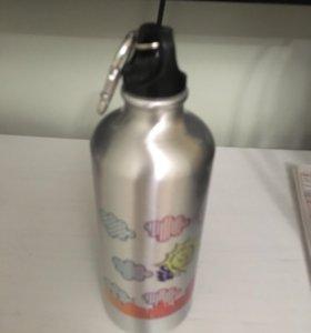 Металлическая бутылочка для воды