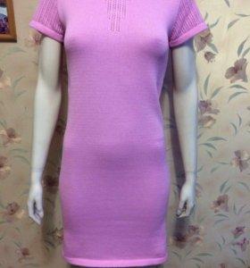 Платье розовое 46 размер