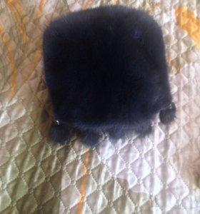 Шапка норковая, размер 56