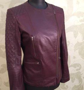 Кожаная куртка Stefanel Sale до 25 июля цена 4400