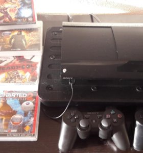 PS 3 500gb+2 touchpad+6 игр