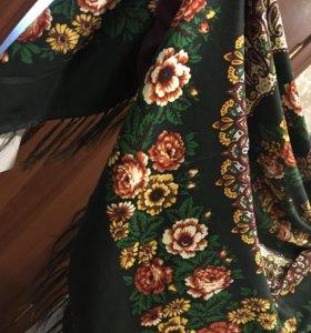 Платок русский стиль, павлопосадский