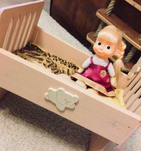 Детская кроватка для кукол/дерево