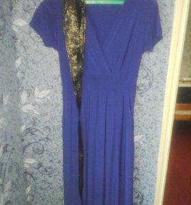 вечернее платье(новое с этикеткой)ткань стрейч