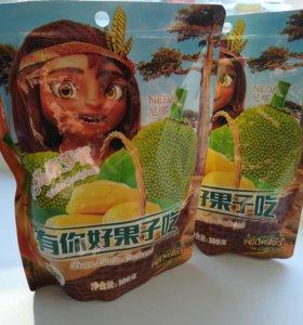 Сухой джекфрут в упаковке 100 гр.