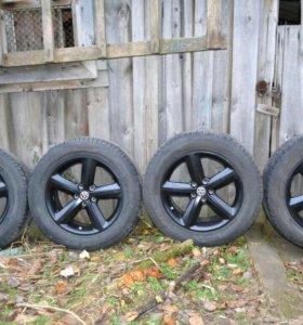 комплект колес r17 стояли на vw tiguan