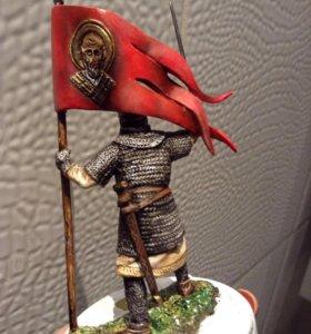 Русский воин Xll век. Оловянная миниатюра.