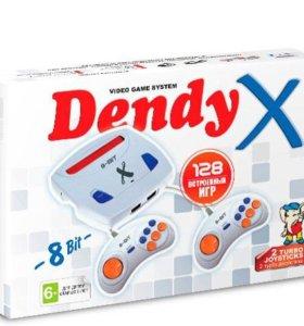 Игровая приставка Dendy X 128 игр новая