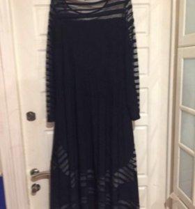 Вечерние синие платье 54-56.турция