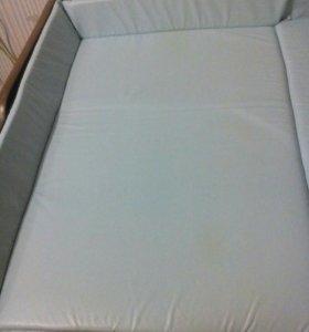 Матрасик для пеленального столика с бортиками