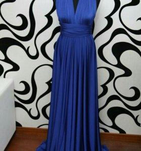 Синее платье новое
