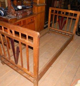 кровать старинная 19 век.