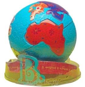 """занимательная игрушка battat """"светящийся глобус"""""""