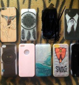 Чехлы на IPhone 5, 5s, 5c; 6, 6s