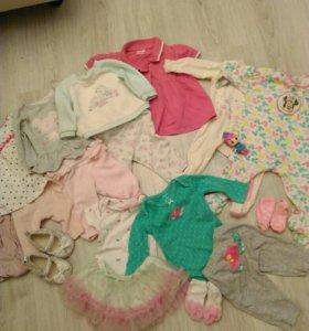 Одежда пакетом на девочку на 2-3-4 месяца!!!