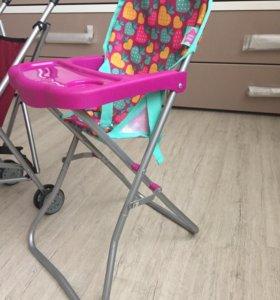 Игрушечные столик для кормления и коляска