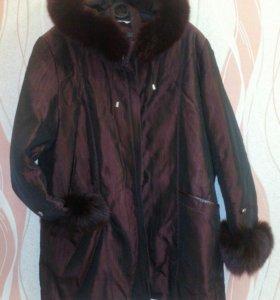 Куртка с капюшоном с опушкой