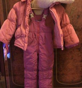 Детский зимний костюм для девочки 92-104