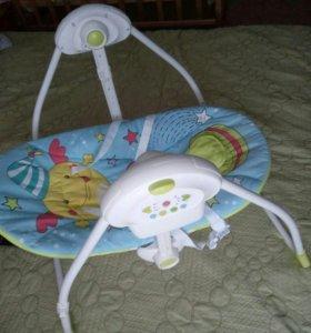 Электрокачели-шезлонг + круг для купания в подарок