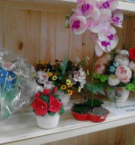 Цветы, букеты ручной работы