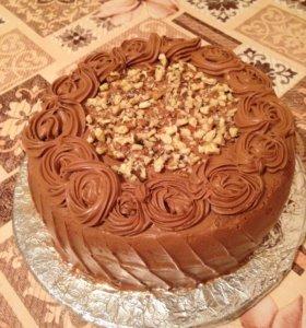 Бисквитный торт с кремом Тафита