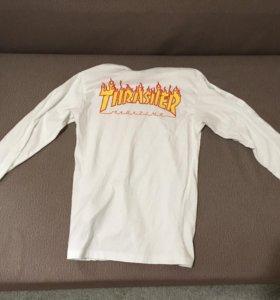 triko VANS - Thrasher Checker Ls White (WHT)