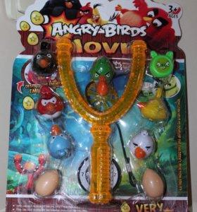 Angry Birds рогатка с птичками