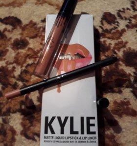 "Набор ""Kylie - помада+ карандаш в тон."