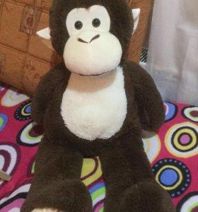 Большая плюшевая обезьянка 80 см