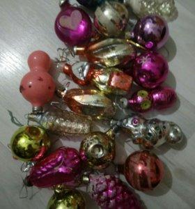 Игрушки новогодние стекло