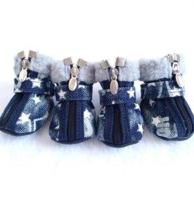 Зимние ботинки для собаки L-XL.