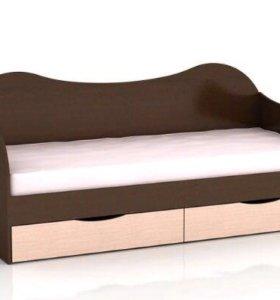 Кровать с ящиками новая