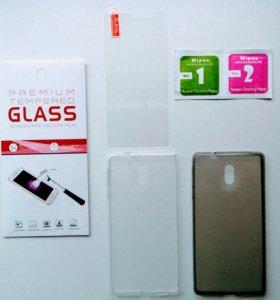На Nokia 3 защитные стекла и чехлы