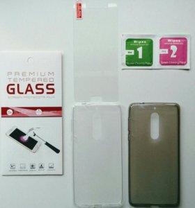 На Nokia 5 защитные стекла и чехлы