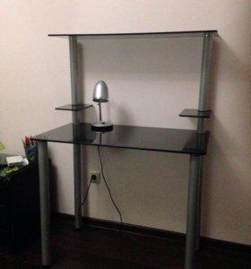 Стеклянный письменный компьютерный стол