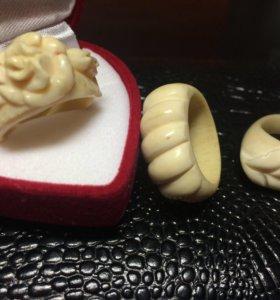 Кольца из натуральной кости