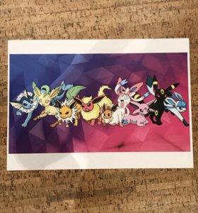 Плакат Покемоны