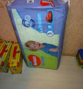 Подгузники трусики хаггис 5 размер для мальчика